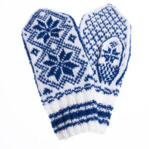 Blå votter strikkepakke