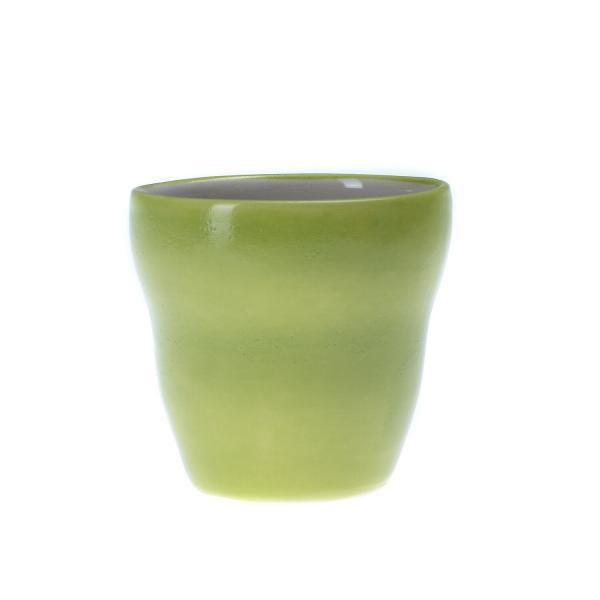 Grønn liten kopp uten hank