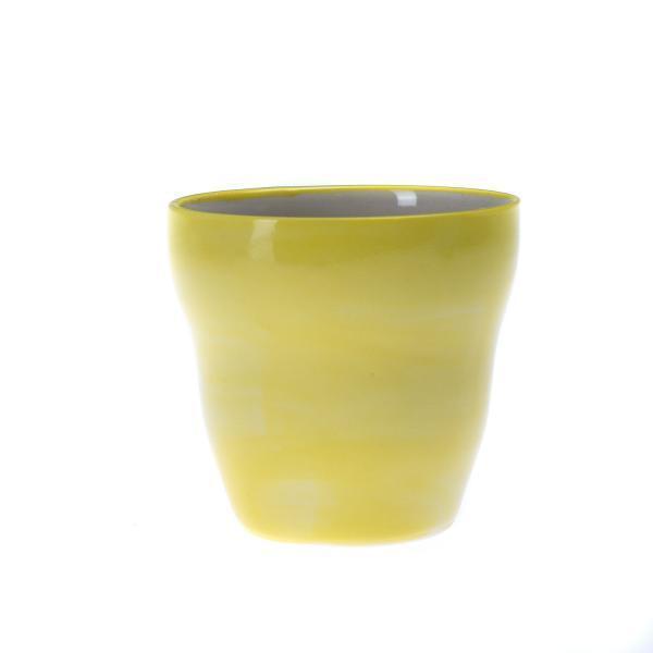 Liten gul kopp uten hank
