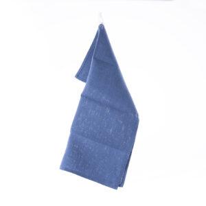 Blått lin kjøkkenhåndkle