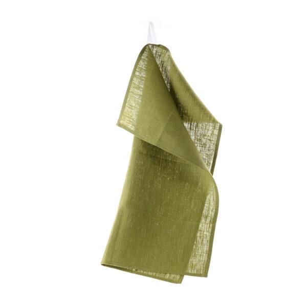 Grønt lin kjøkkenhåndkle