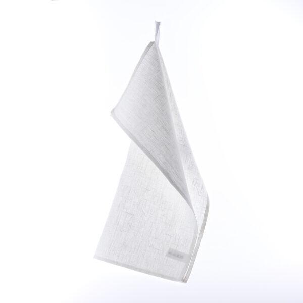 Hvitt kjøkkenhåndkle i lin