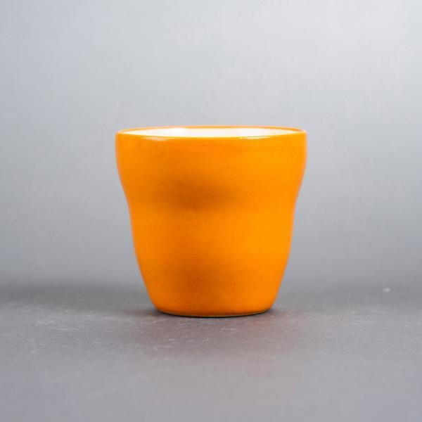 kopp uten hank oransje