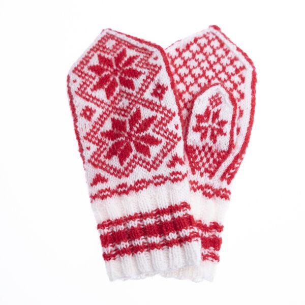 Rød votter strikkepakke