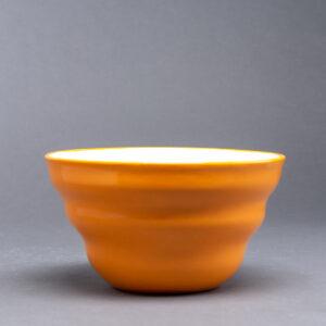 Bølgeskål stor oransje