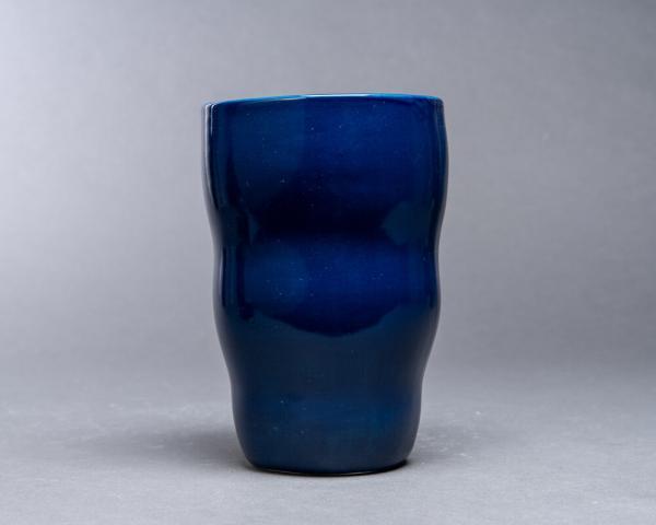Blå vase