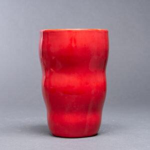 Rød vase
