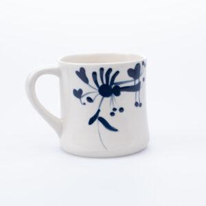 Blå kontorkopp keramikk