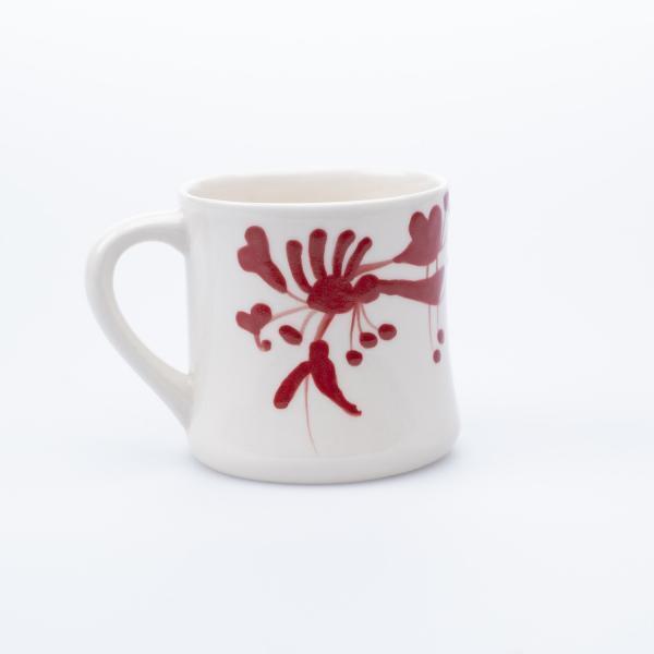 Rød kontorkopp keramikk