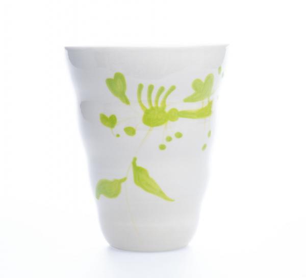 Vid vase grønn