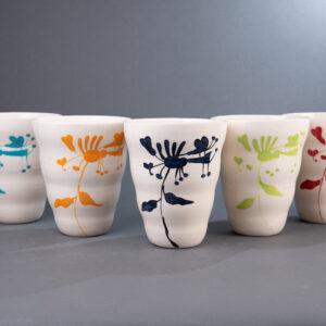Alle farger av vid vase
