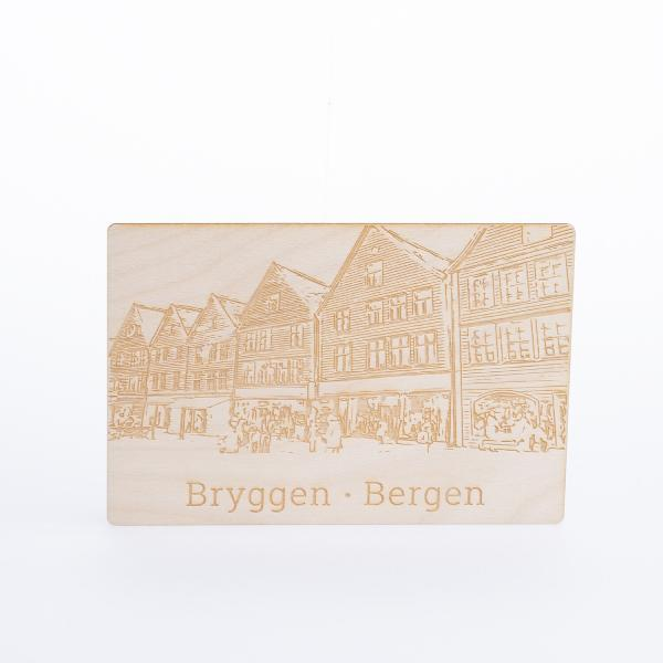 Bryggen tre postkort