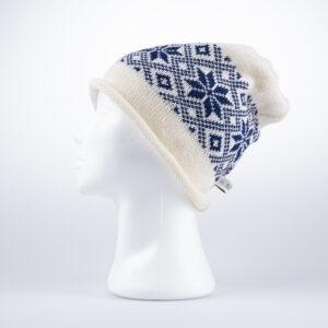 Blå rose Strikkelue